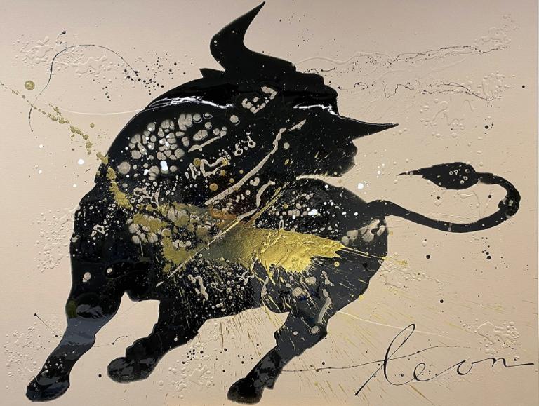 Kunst: Raging bull van kunstenaar Leon Bosboom