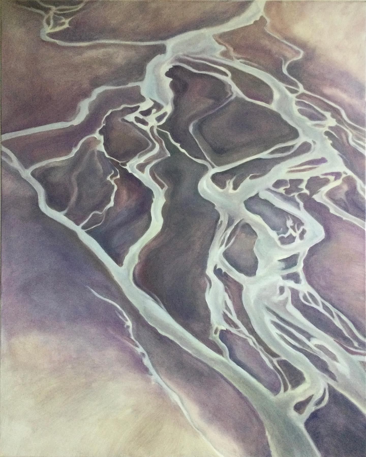 Kunst: River flow van kunstenaar Sanneke S.I. Griepink