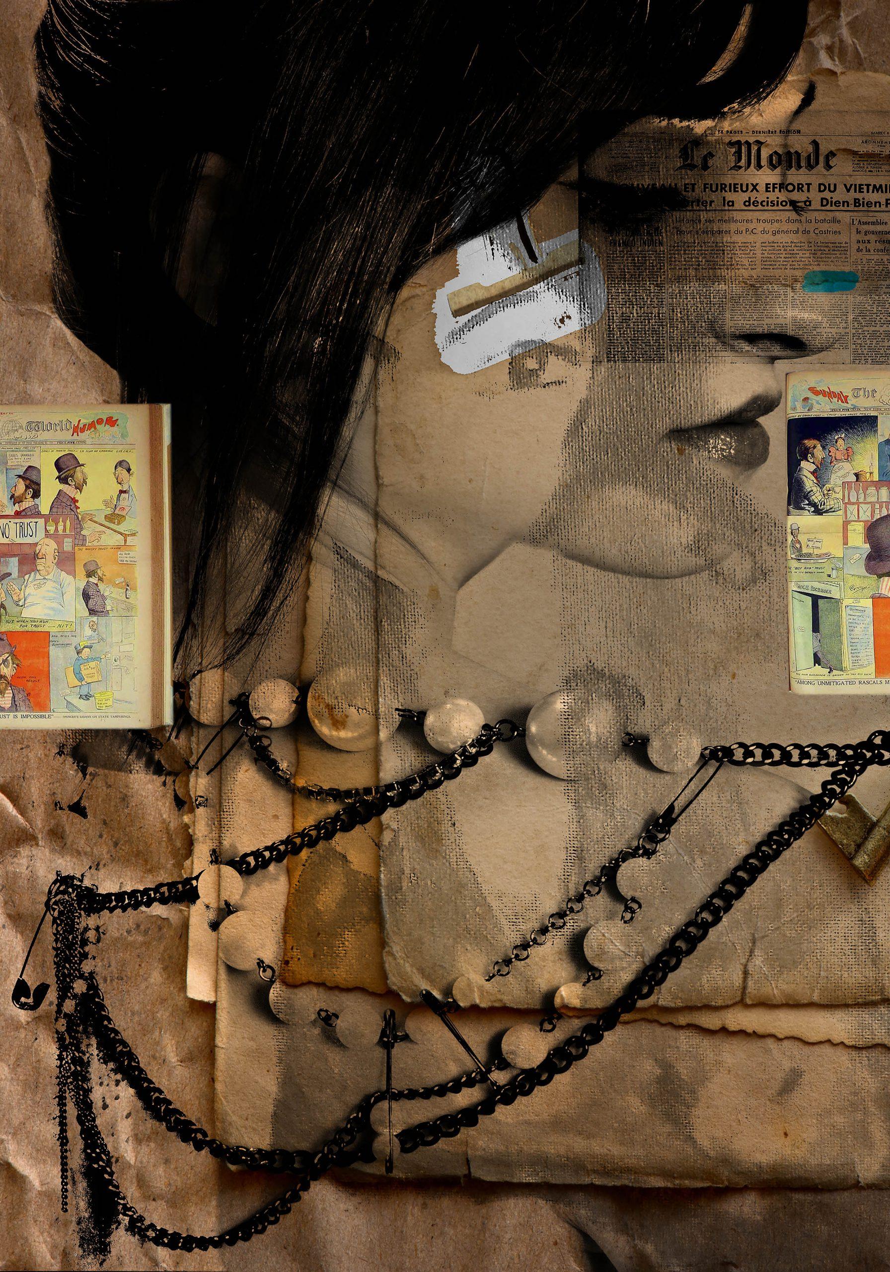 Kunst: The beautiful lady and her ordinary life van kunstenaar Geert Lemmers