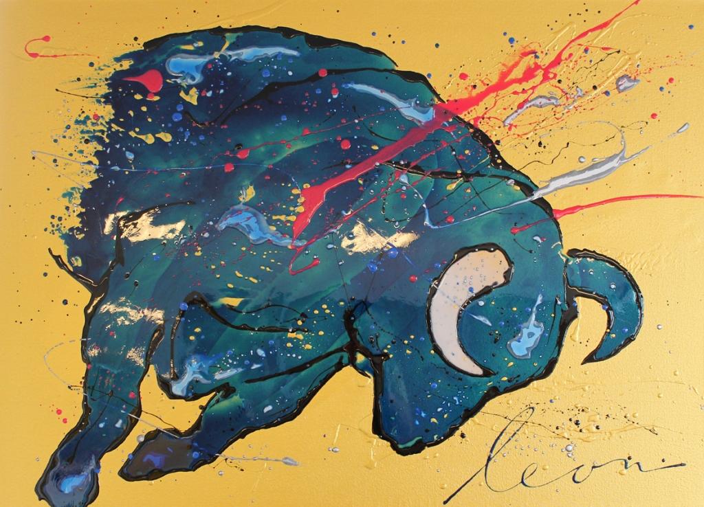 Kunst: Toro forte van kunstenaar Leon Bosboom