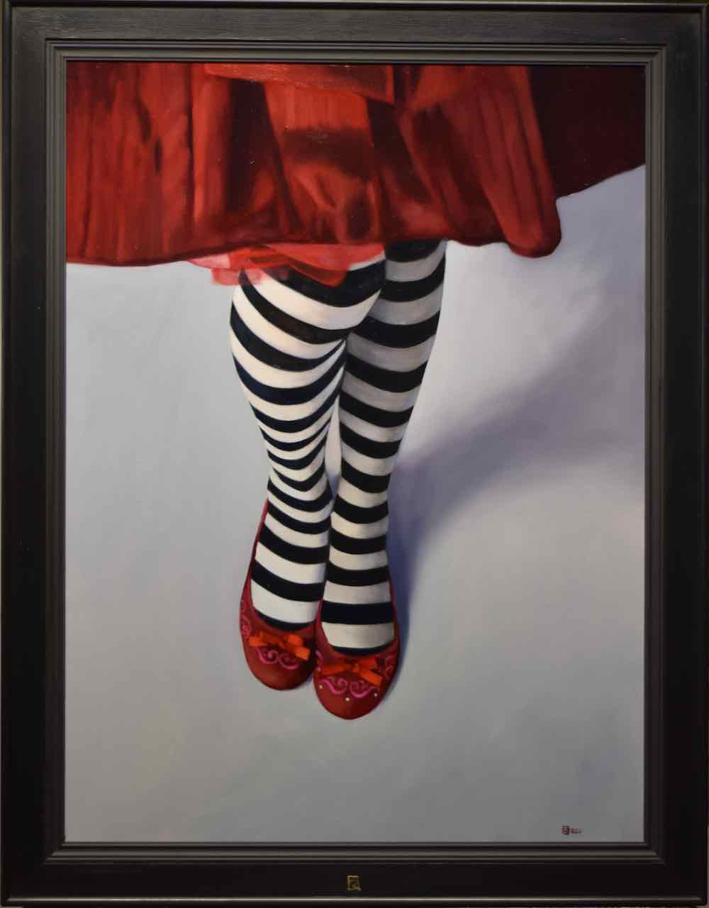 Kunst: Toveren met strepen van kunstenaar Roeland van der Kley