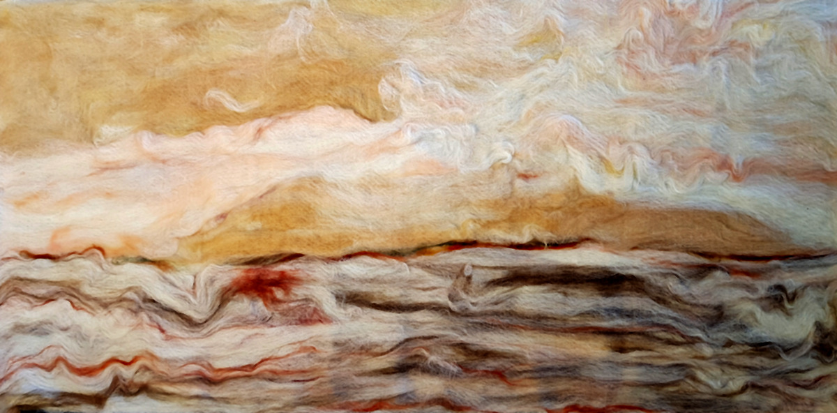 Kunst: Something in the Sky van kunstenaar Marian Verdonk