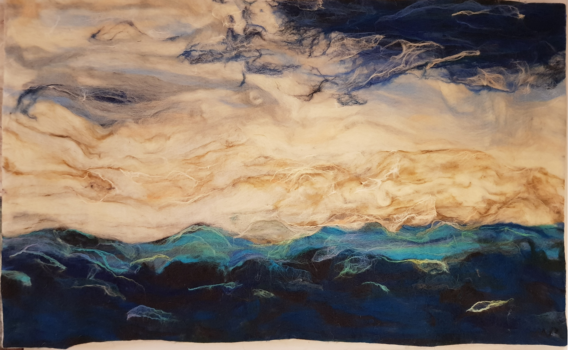 Kunst: Stormy Sea van kunstenaar Marian Verdonk