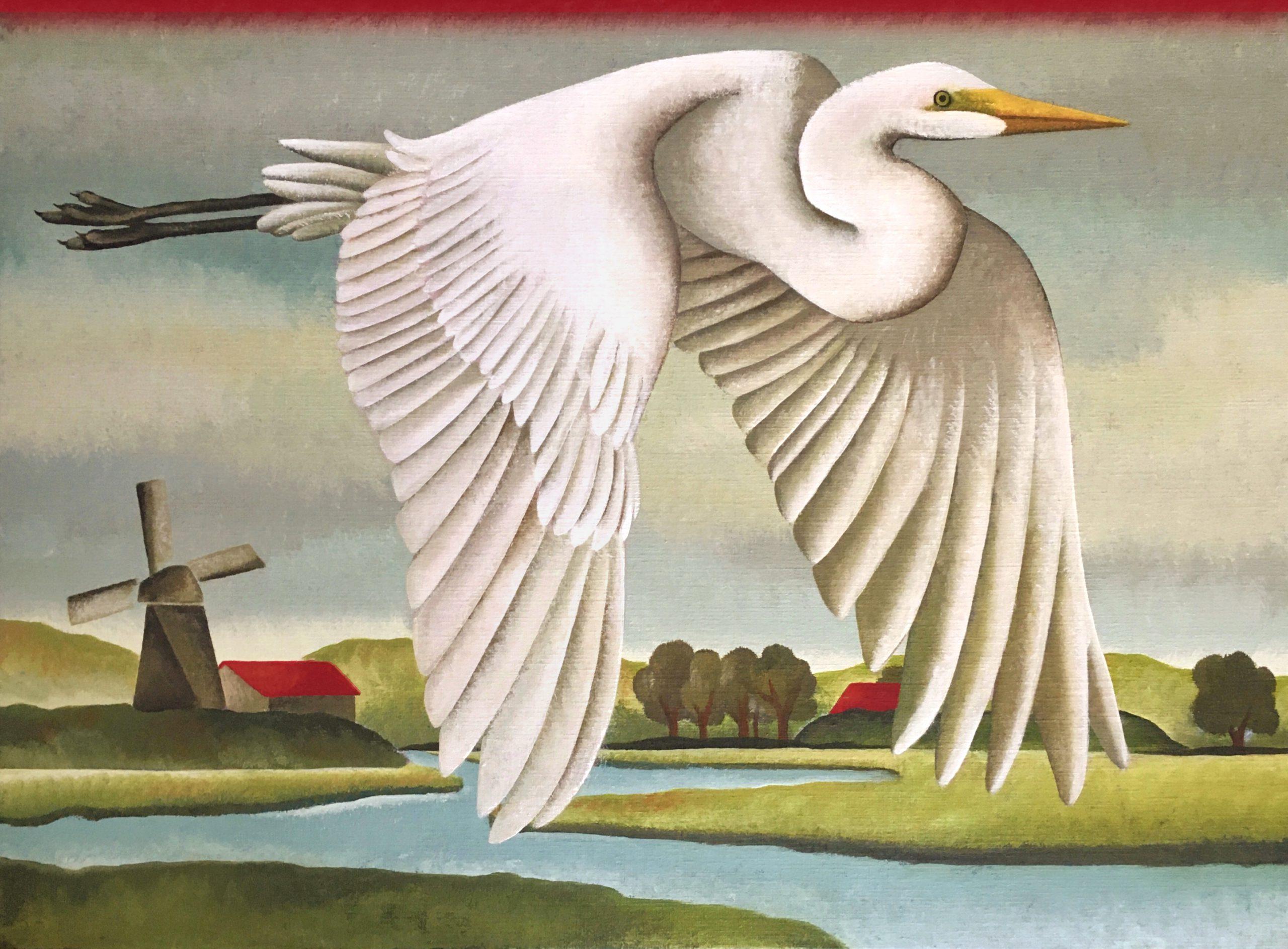 Kunst: Verstild landschap van kunstenaar Yvonne Zomerdijk