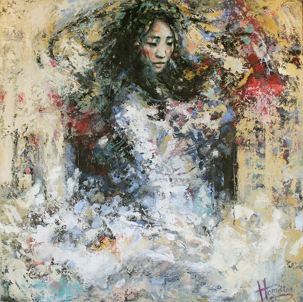 Kunst: Wild Swirl van kunstenaar Evelyn Hamilton