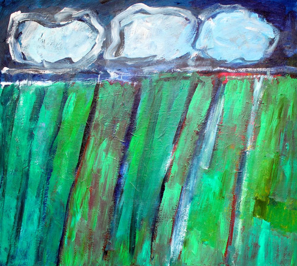 Kunst: Compositie 6007 van kunstenaar Engelina Zandstra