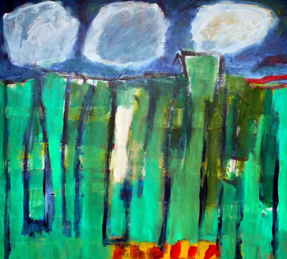 Kunst: Compositie 6009 van kunstenaar Engelina Zandstra