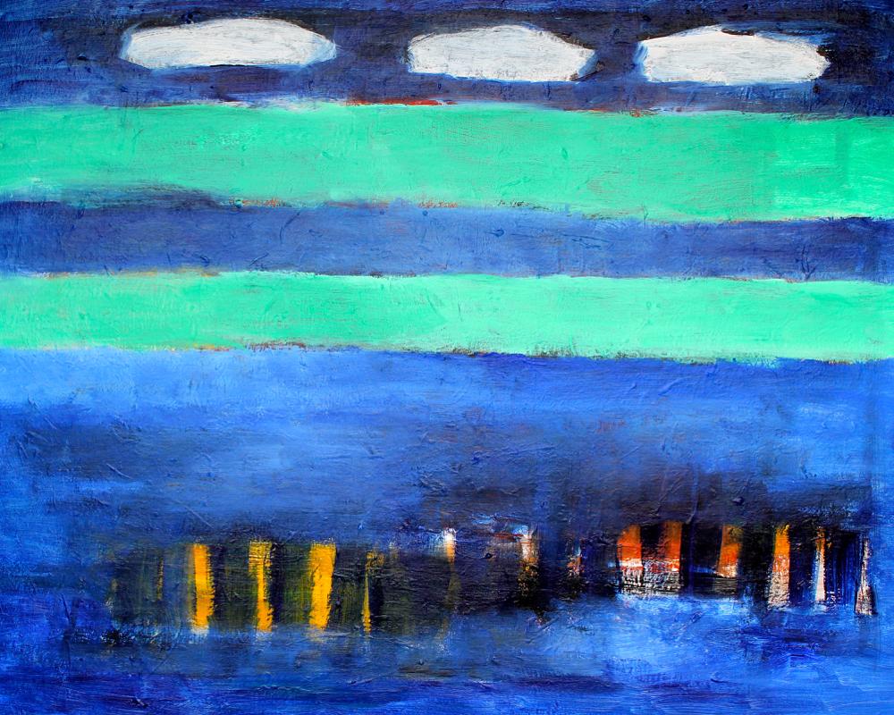 Kunst: Compositie 6012 van kunstenaar Engelina Zandstra