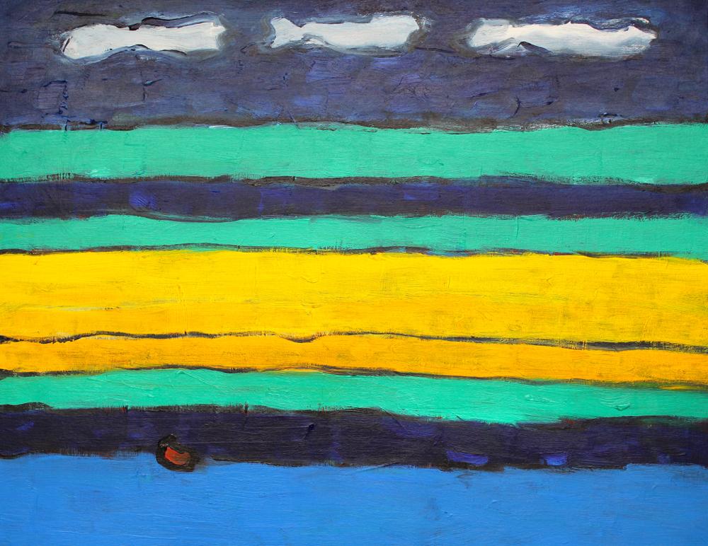 Kunst: Compositie 6036 van kunstenaar Engelina Zandstra