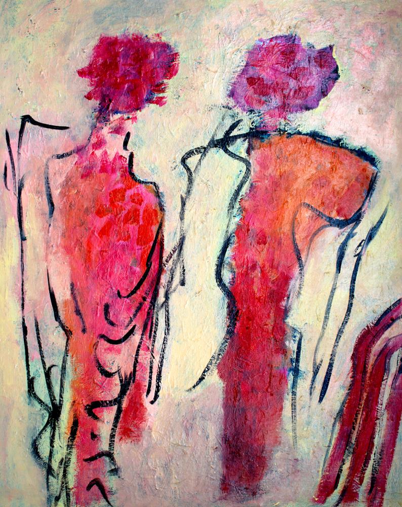 Kunst: Compositie 6043 van kunstenaar Engelina Zandstra