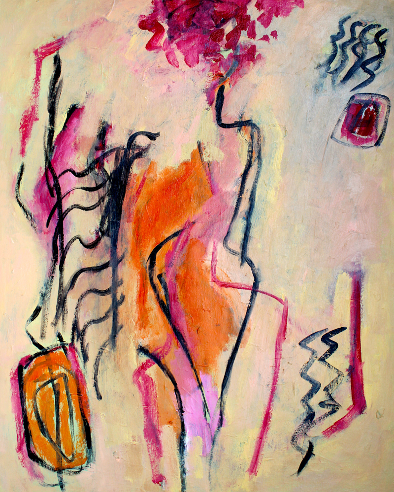 Kunst: Compositie 6048 van kunstenaar Engelina Zandstra