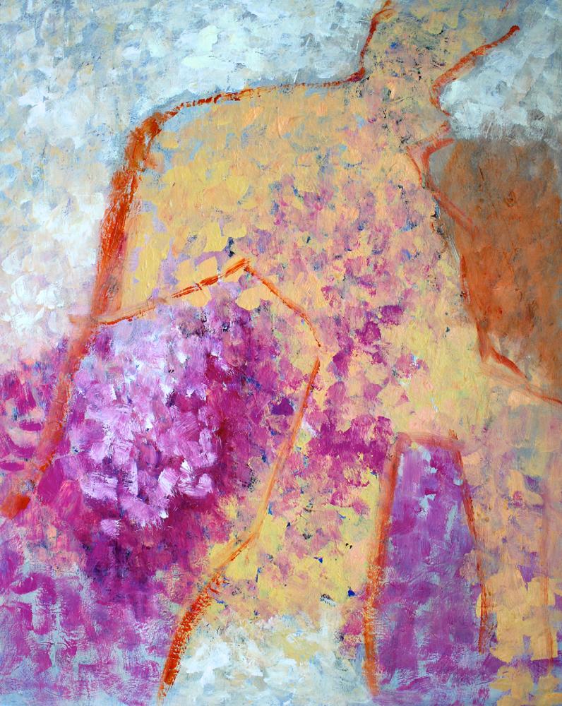 Kunst: Compositie 6130 van kunstenaar Engelina Zandstra