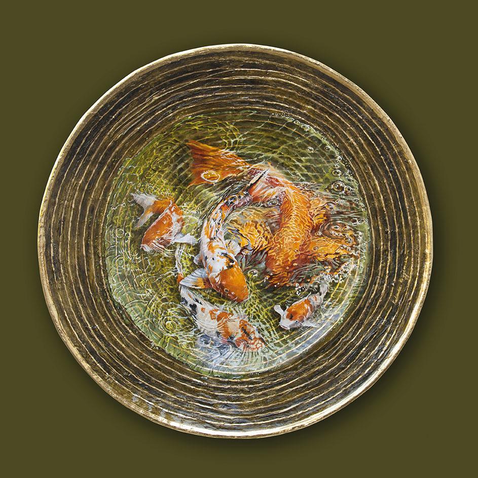 Kunst: Revolving around gold nr 2 van kunstenaar Katinka Krijgsman