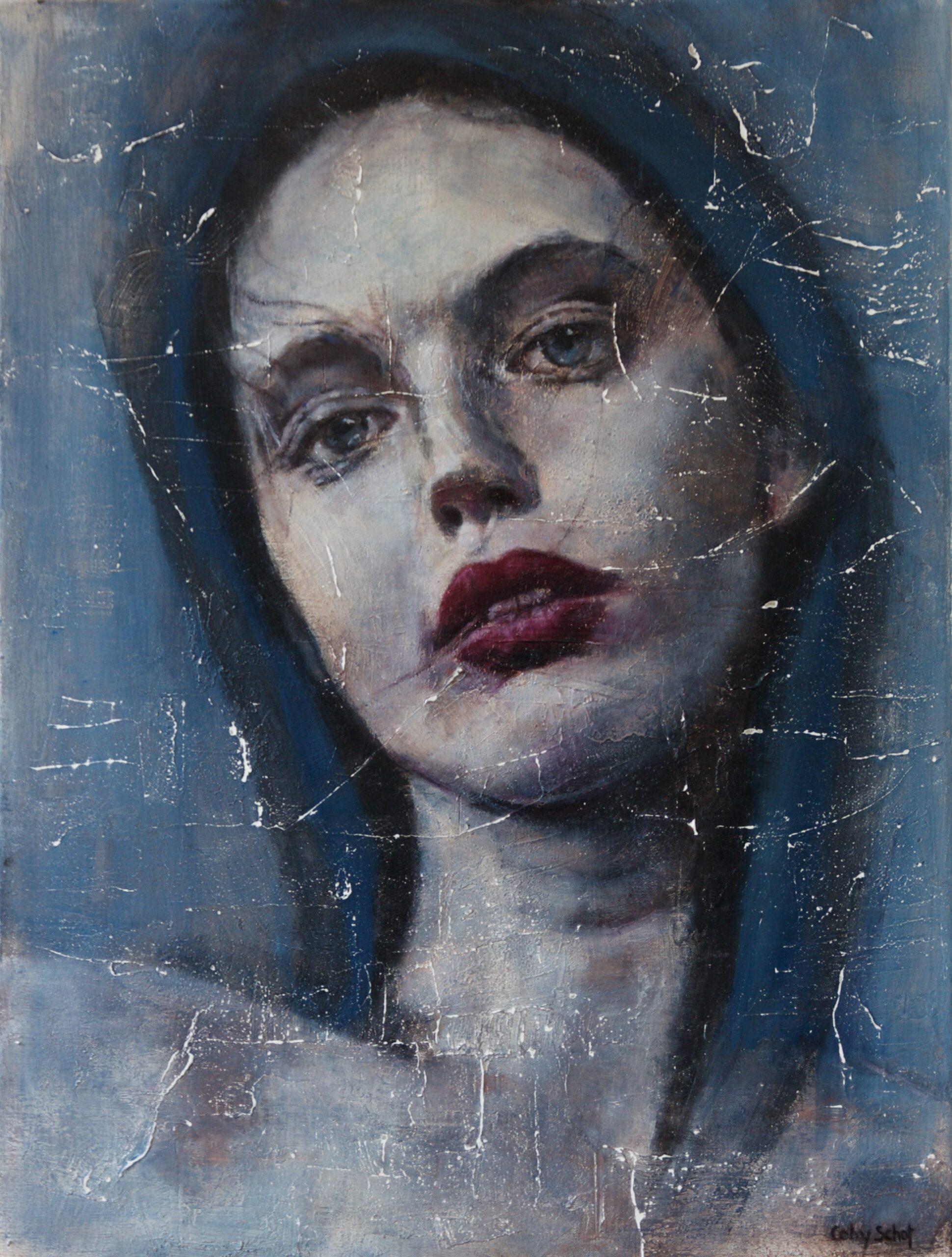 Kunst: 'Rosa Azul' van kunstenaar Coby Schot