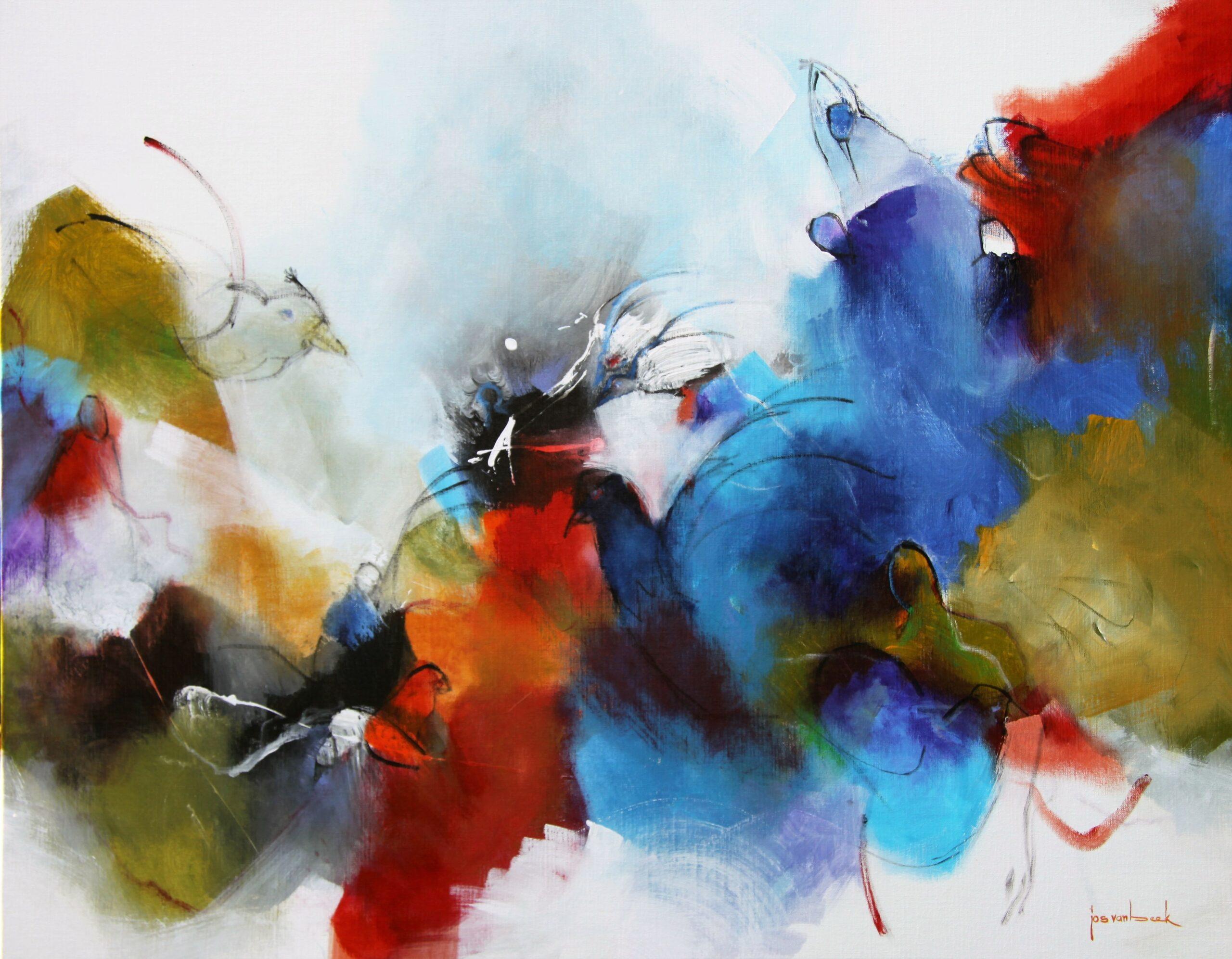 Kunst: 21-20 Gezellig op grote hoogte van kunstenaar Jos van Beek