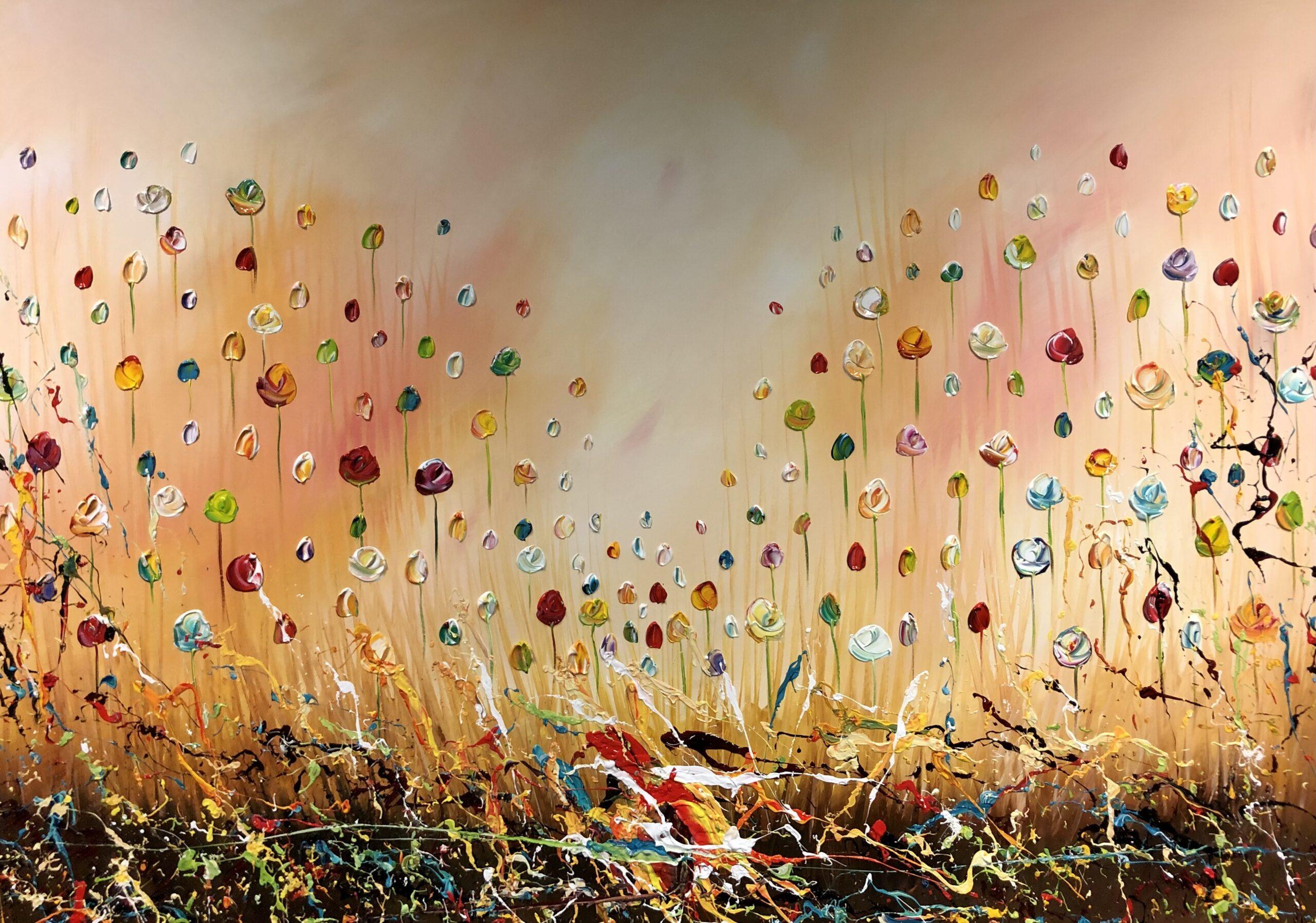 Kunst: Floral splendor I van kunstenaar Gena n Gena