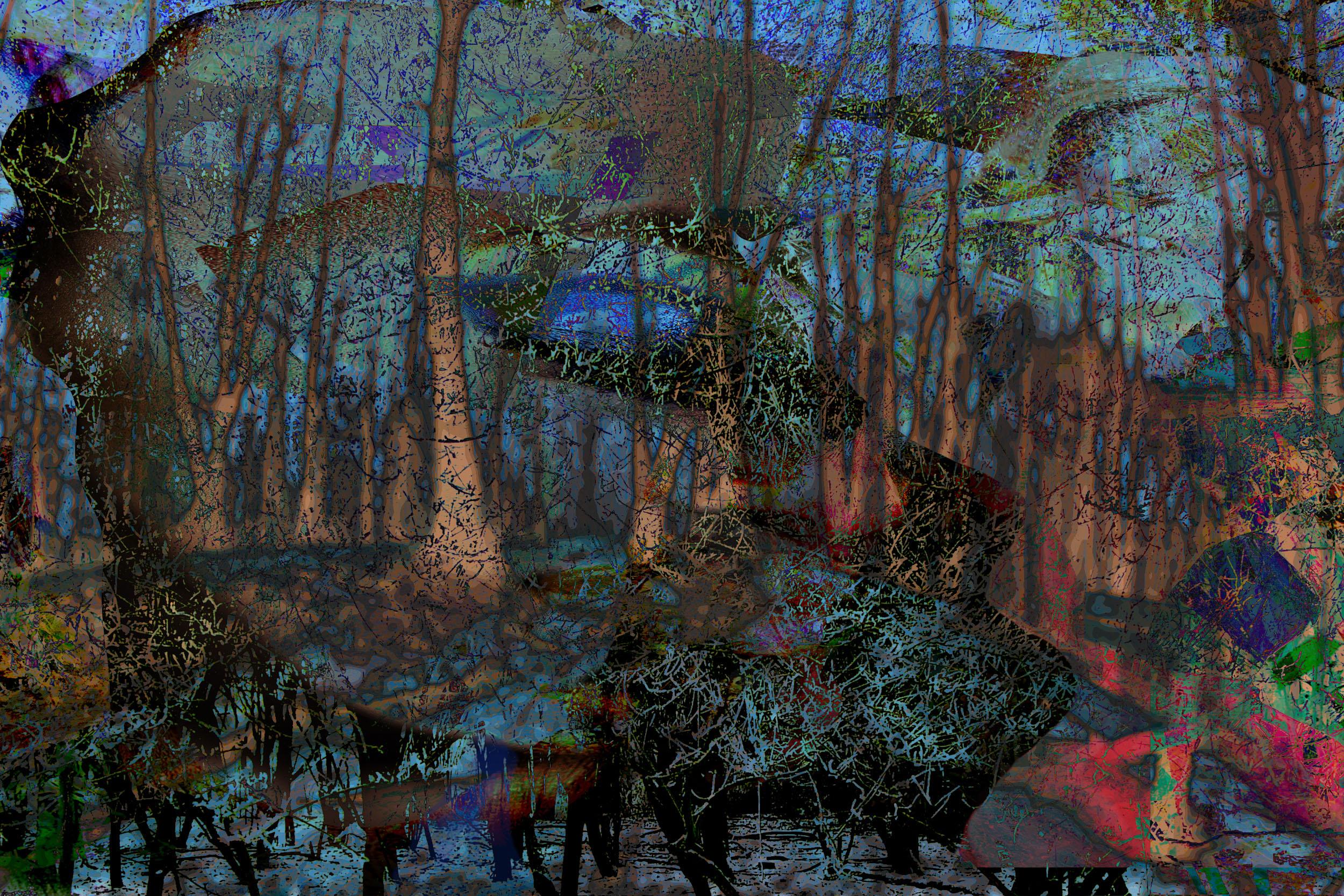 Kunst: Dreamland Forrest NEW van kunstenaar Geert Lemmers
