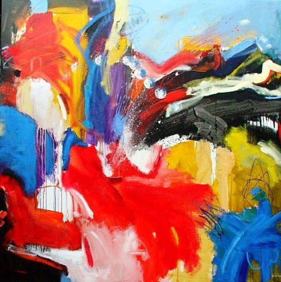 Kunst: 0555 Middelpuntzoekend van kunstenaar Jos van Beek