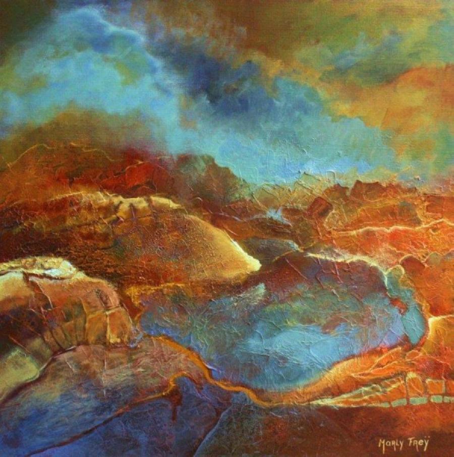 Kunst: 1107 van kunstenaar Marly Freij(vergezichten)