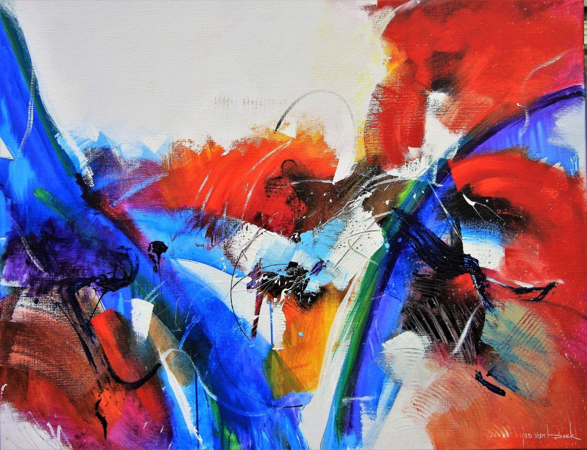 Kunst: 1804 De rivier splitst zich van kunstenaar Jos van Beek