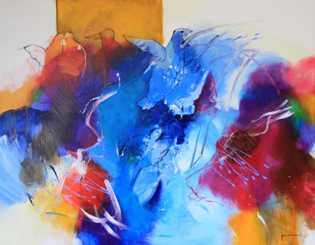 Kunst: 20-15 Het dwarrelt en fluistert van kunstenaar Jos van Beek