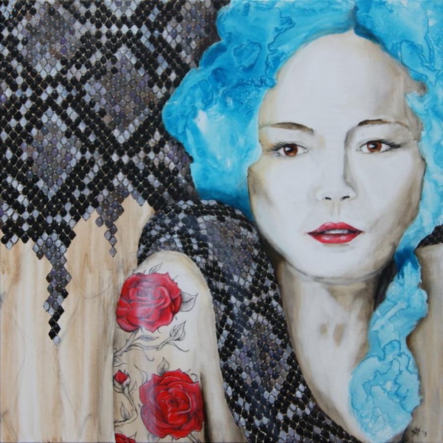 Kunst: 2013 Year of the snake V van kunstenaar Tamara Sille