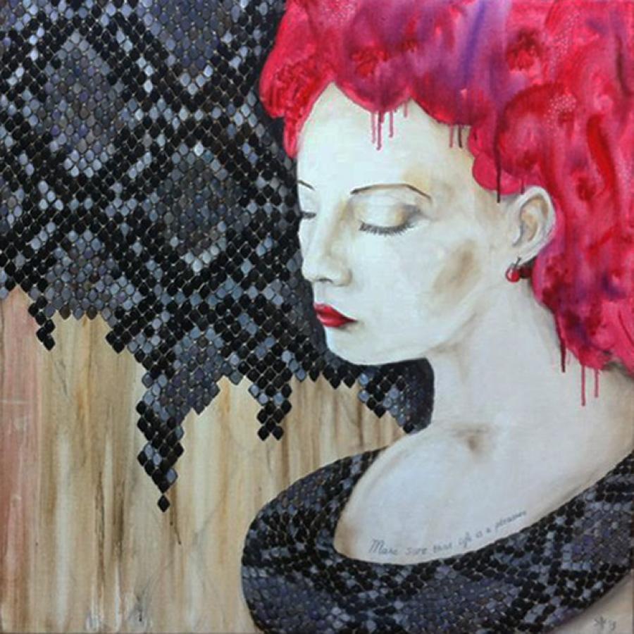 Kunst: 2013 Year of the snake VI van kunstenaar Tamara Sille