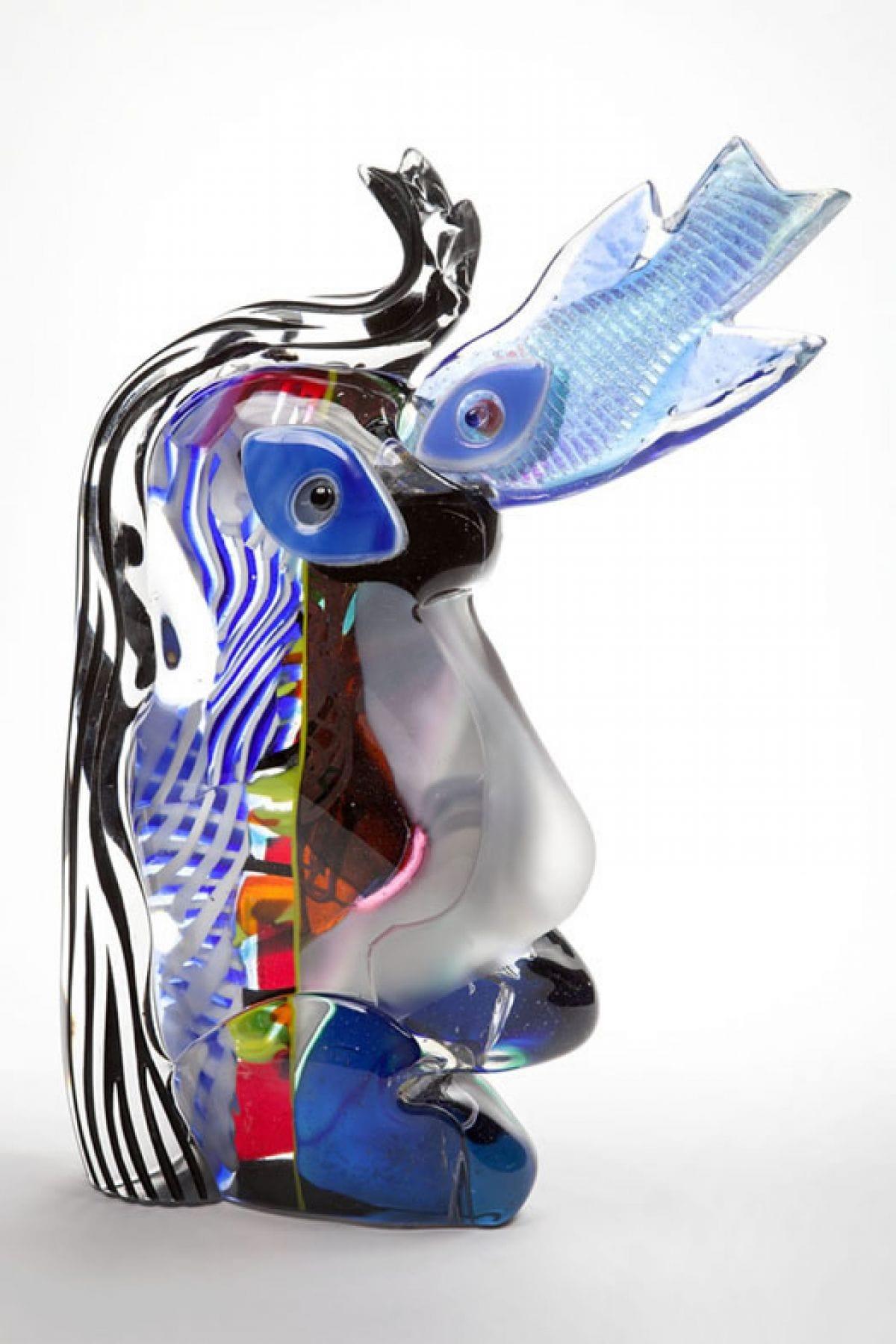 Kunst: A Fish in my Eye van kunstenaar Louis la Rooy