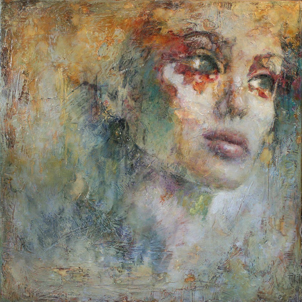 Kunst: A touch of gold van kunstenaar Evelyn Hamilton