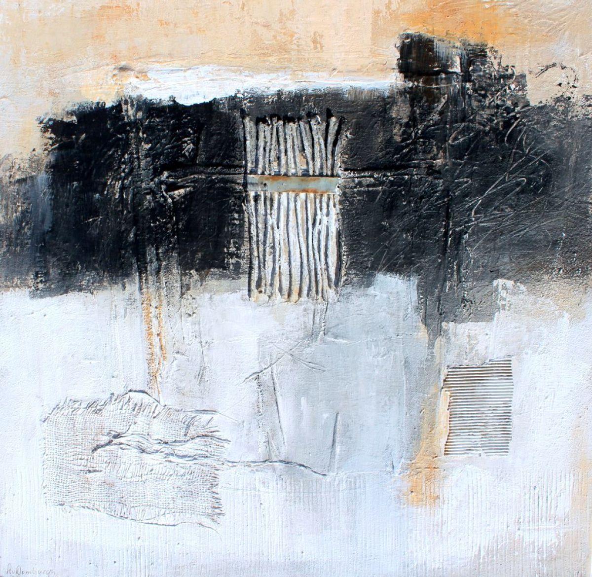 Kunst: Abstract 0020-2 van kunstenaar Lydia van Domburgh