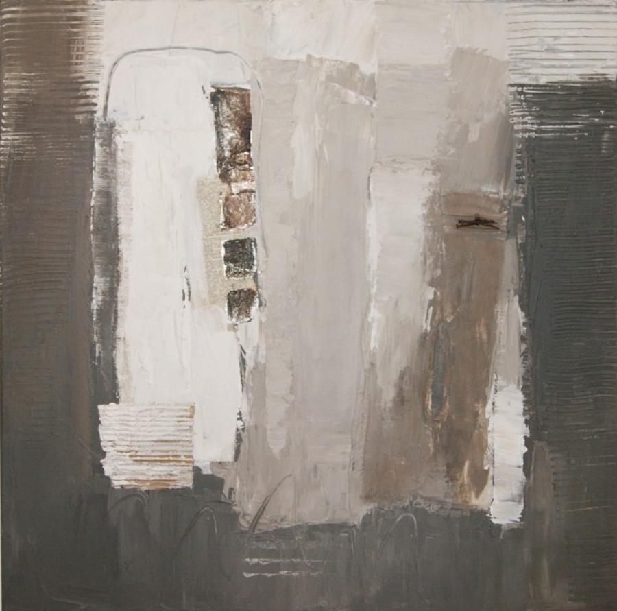 Kunst: Abstract 0020 van kunstenaar Lydia van Domburgh