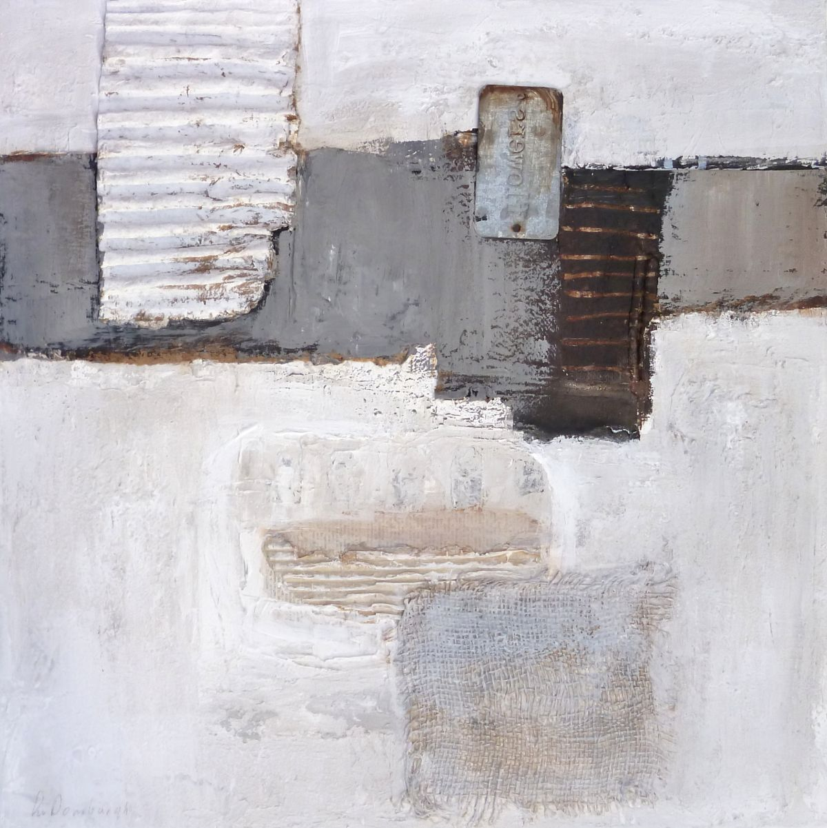 Kunst: Abstract-3 van kunstenaar Lydia van Domburgh