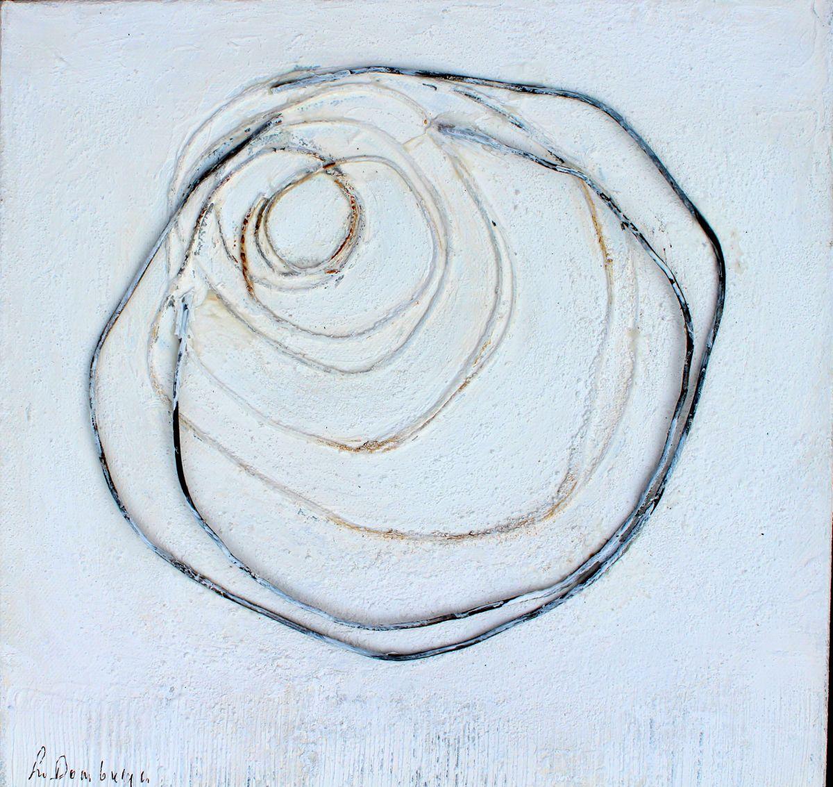 Kunst: Abstract 30-1 van kunstenaar Lydia van Domburgh