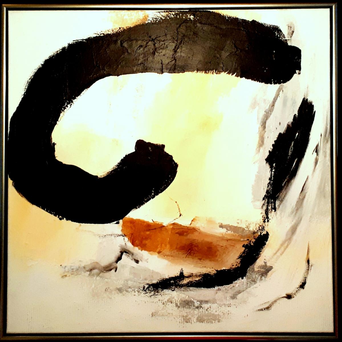 Kunst: Abstract-5 van kunstenaar Lydia van Domburgh