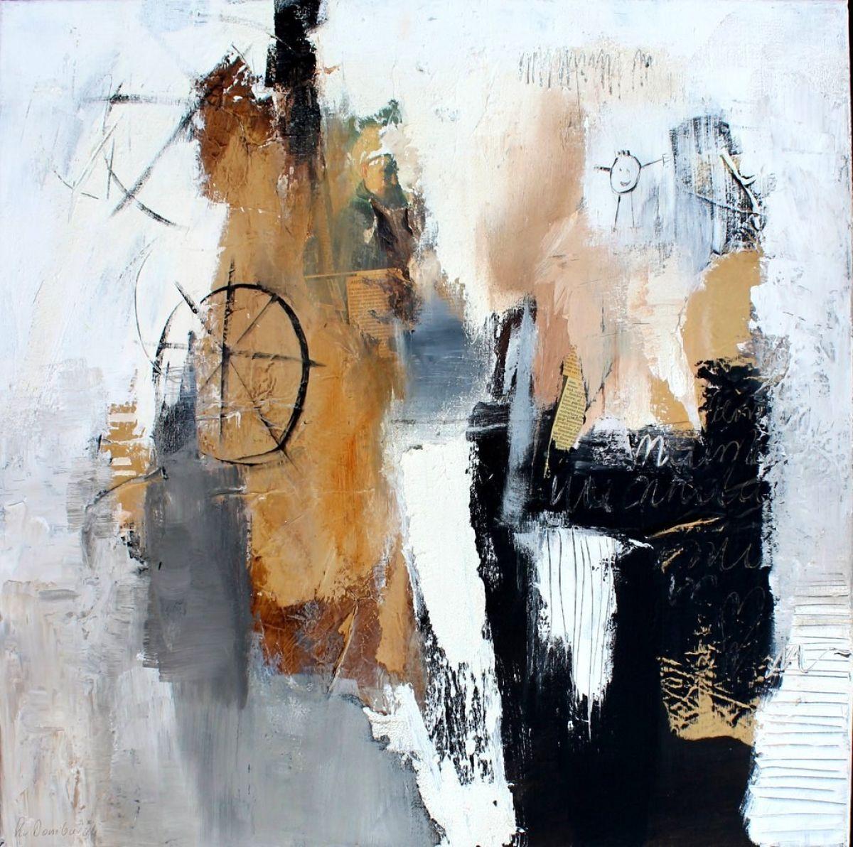 Kunst: Abstract 80-1 van kunstenaar Lydia van Domburgh