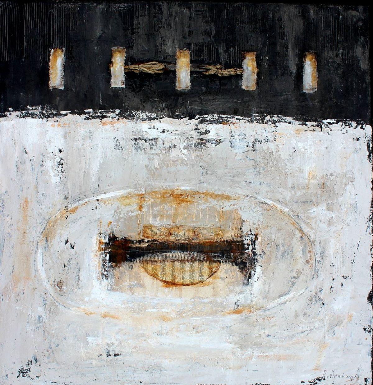 Kunst: Abstract 80-2 van kunstenaar Lydia van Domburgh