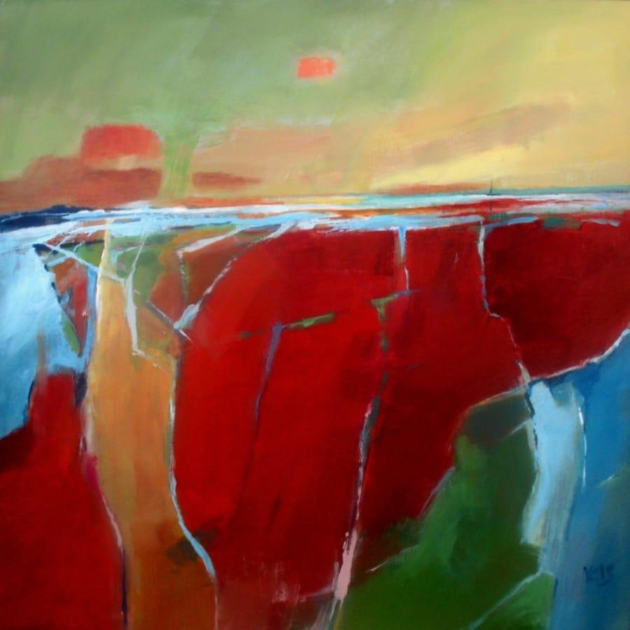 Kunst: abstract landscape 1 van kunstenaar Cees Vegh