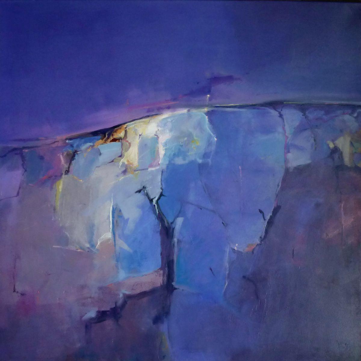Kunst: abstract landscape 15 van kunstenaar Cees Vegh