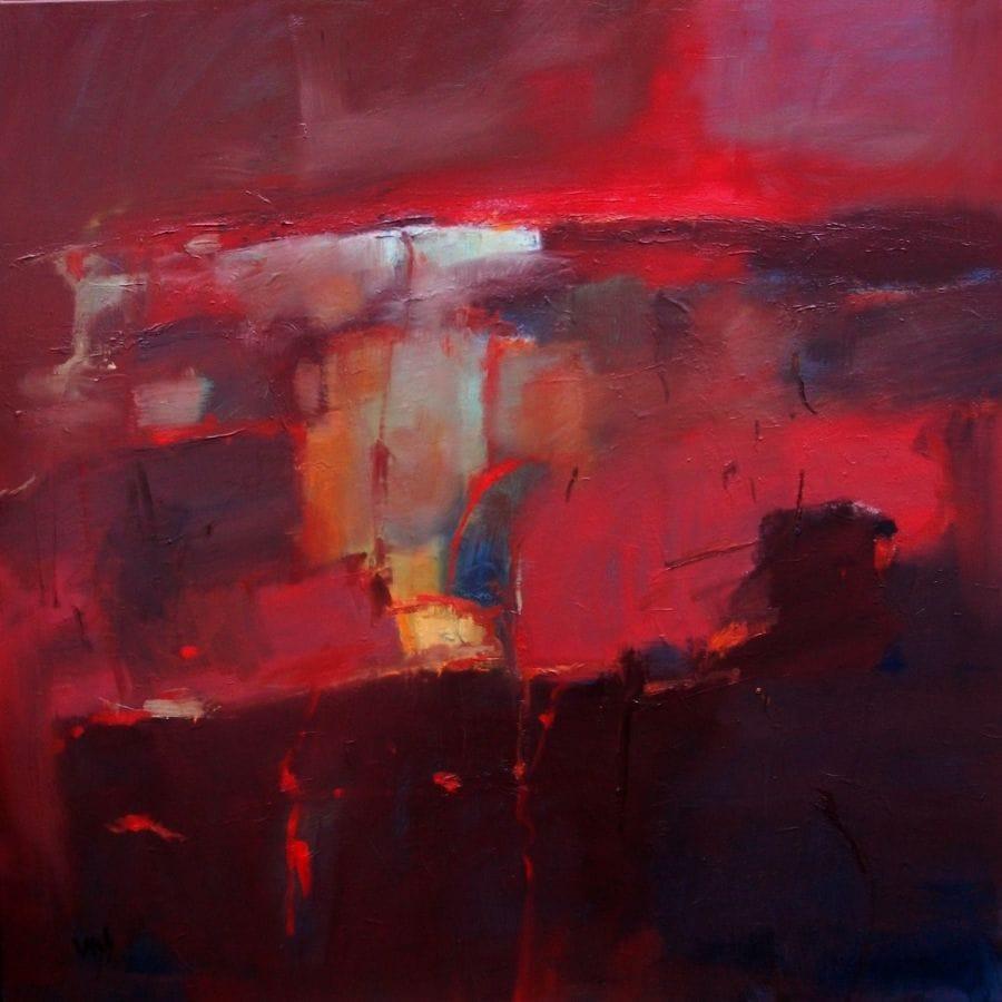Kunst: abstract landscape 23 van kunstenaar Cees Vegh