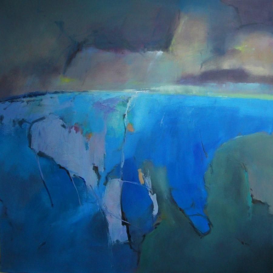 Kunst: abstract landscape 6 van kunstenaar Cees Vegh