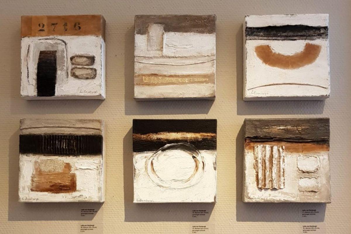 Kunst: Abstract (small) van kunstenaar Lydia van Domburgh
