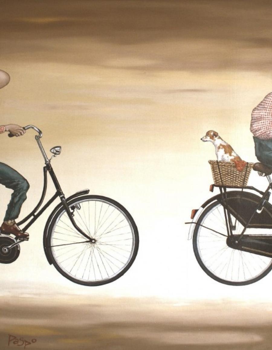 Kunst: Achterop van kunstenaar Paddy Spoelder
