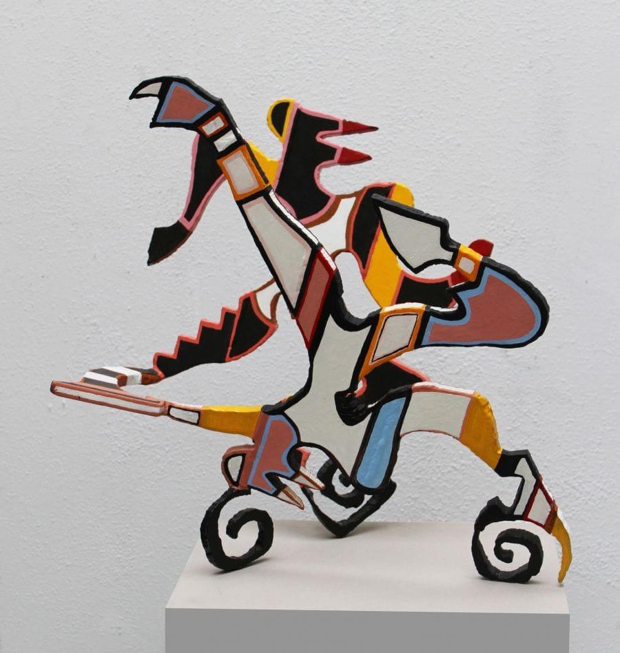 Kunst: Acrobaten 2 van kunstenaar Frans Muhren