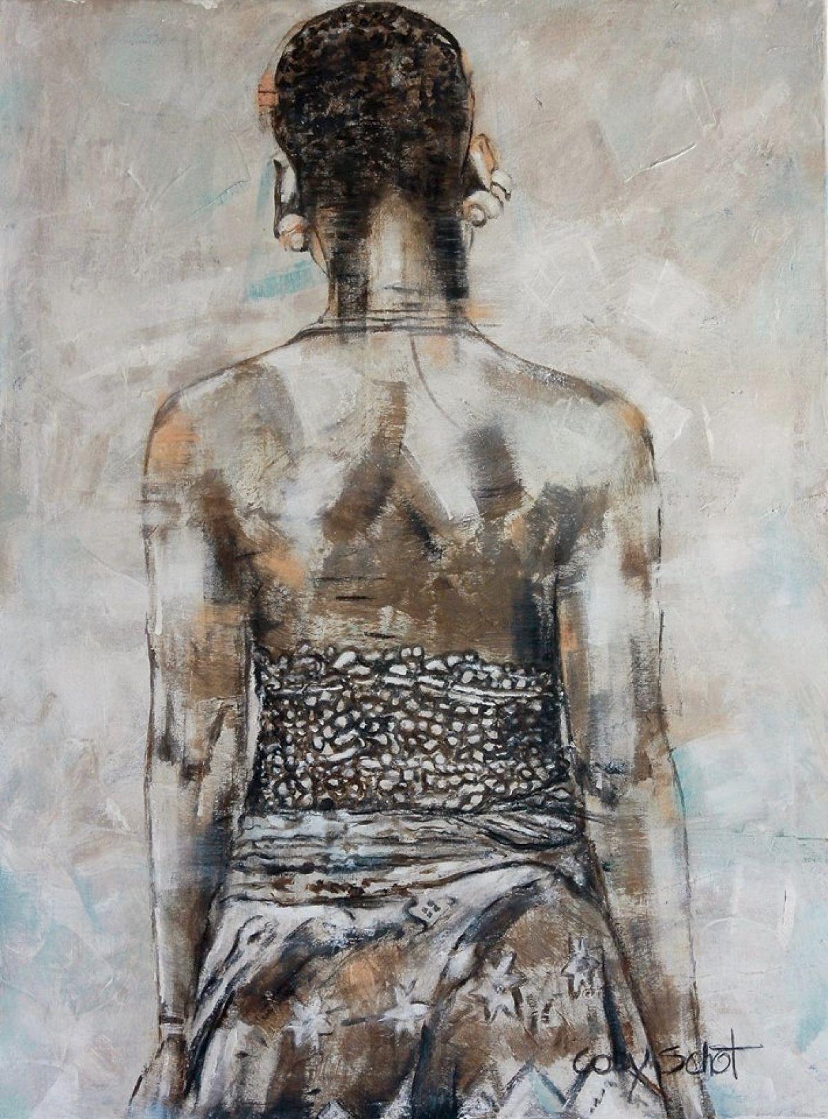 Kunst: 'African woman' van kunstenaar Coby Schot