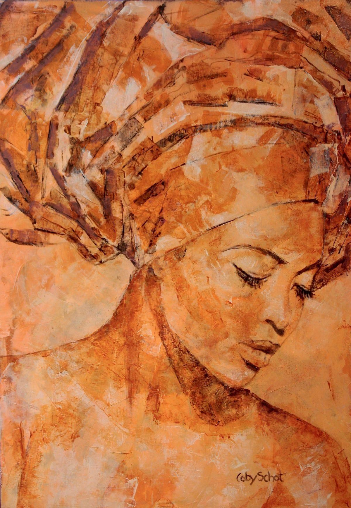 Kunst: 'Amber Love' van kunstenaar Coby Schot
