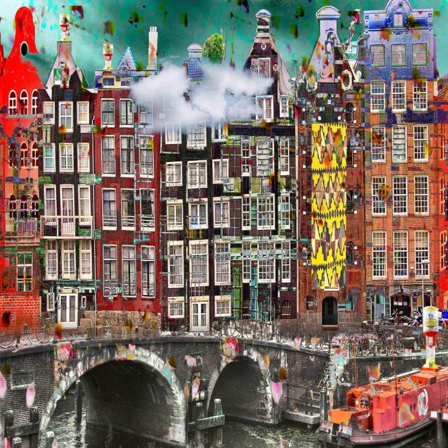 Kunst: Amsterdam View opus 33. Limited Edition [8] van kunstenaar Geert Lemmers