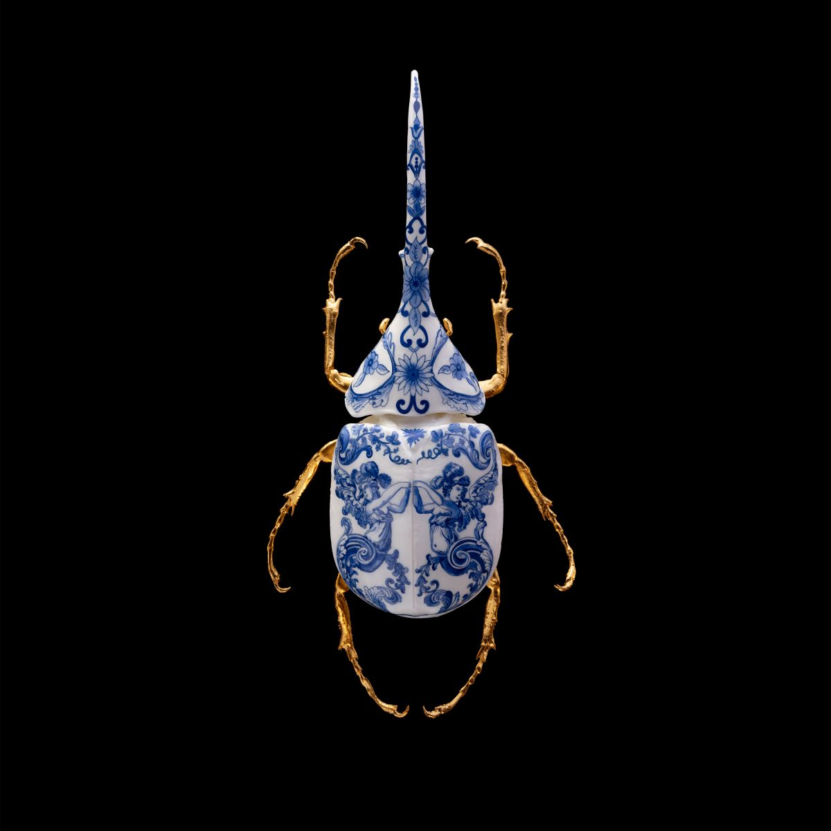 Kunst: Anatomia Blue Heritage Hercules II Print van kunstenaar Samuel Dejong