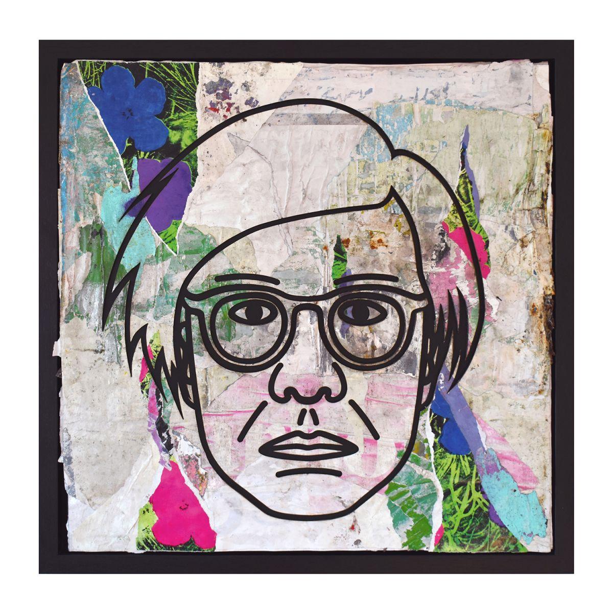 Kunst: Andy Warhol Flowers Purple Blue Pink van kunstenaar Perishable Rush