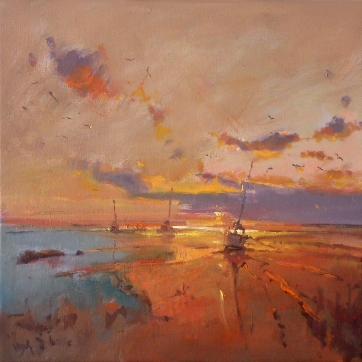 Kunst: avondzon van kunstenaar Cees Vegh