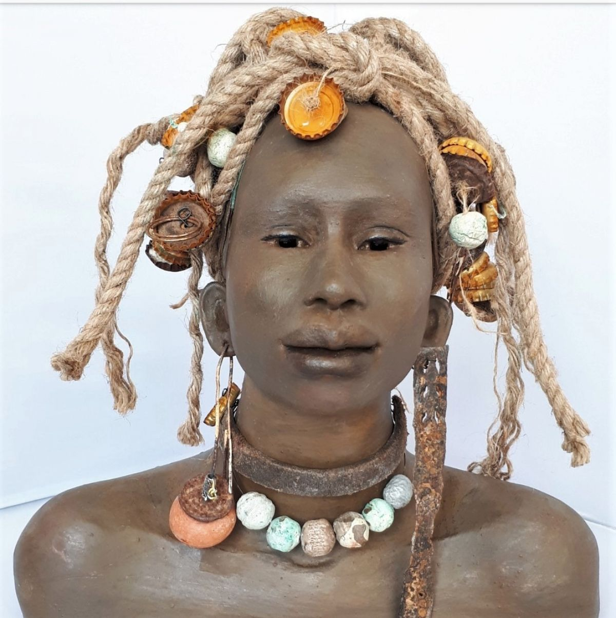 Kunst: Ayobani – Ik ben gelukkig met jou van kunstenaar Lilian Wessels
